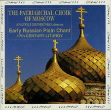 Early Russian Plain Chant - The Russian Patriarchate Choir (CD, 1993, Opus 111)