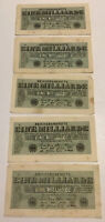 Lot Of 5 X German Banknotes. 1 Billion Mark. Dated 1923. P122.