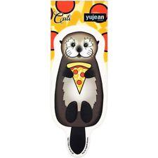 Otter Holding Pizza Slice Cali Pretty in Ink Die-Cut Decal Sticker New Cute