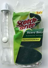 Scotch-Brite Dish Wand Soap Dispenser Dishwand Handle + 3 Scrub Sponge Refills