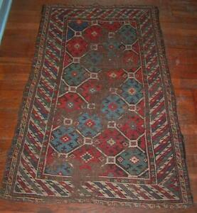 """Antique HAND KNOTTED ORIENTAL CARPET - This Rug Measures: 2'8""""x4'3"""""""
