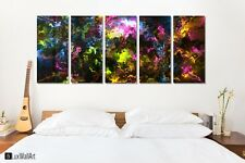 Fractal Nebula Lights Metal Wall Art Decor