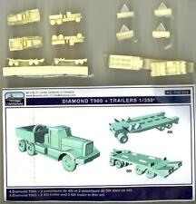 L'Arsenal Models 1/350 DIAMOND T980 TRUCK AND TRAILER (4) Resin Set