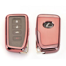 TPU Full sealed Cover Pink Key Fob Shell Case for Lexus IS GS RX ES NX LS RC LX