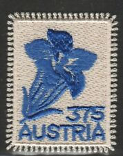 AUSTRIA 2008 GENTIAN ALPINE FLOWER EMBROIDERY COMP. SET OF 1 STAMPS IN MINT MNH
