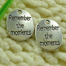 free ship 30 pieces tibetan silver Remember the moments charms 22x18mm #2755