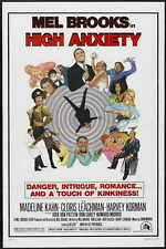 HIGH ANXIETY Movie POSTER 27x40 B Mel Brooks Madeline Kahn Cloris Leachman