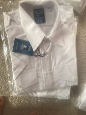 BNWT Men's Eiger Secure Workwear Uniform X2 White Pilot Shirts Size M Collar 16