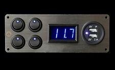 Mercedes Benz Sprinter Campervan 4x Switches Voltmeter 2.1A USB