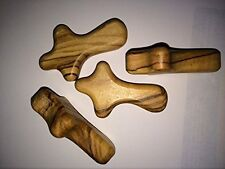 50 Olive Wood Small Pocket - Holding Crosses by Holy Land Imports, New, Free Shi