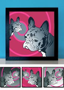 Französische Bulldogge No.3 Pop Art Frenchy 3 Fotos Bilder Poster Geschenkidee