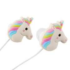 3.5mm Unicorn Cartoon In-ear Earphone Rainbow Horses Headphone Headset