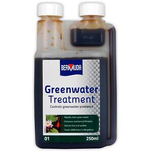 Bermuda Greenwater Pond Treatment Algae Clear Green Cloudy Clean Water Fish Koi