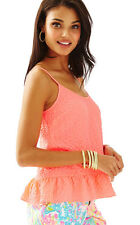 NWT Lilly Pulitzer Pink Sun Ray Coral Top, Sz L, $88