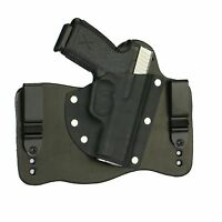 FoxX Leather & Kydex IWB Hybrid Holster Kahr CM9, CW9, P9 & PM9 Right Draw Black