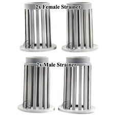 Male/Female Strainers; Set of 2 each, Replacement Part  for Hydro Sponge Filters