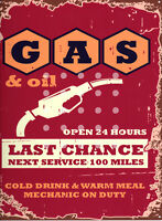 GAS /& OIL GARAGE METAL SIGN RETRO VINTAGE STYLE SMALL shed man cave tin