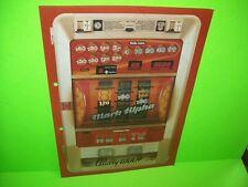 Bally Wulff MARK ALPHA Original GERMAN Text Slot Machine Promo Sticker DECAL