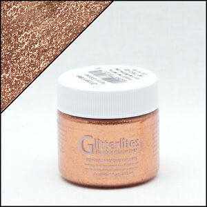 Glitter Leather & Synthetic Paint - ( COPPER ) Get that sparkle effect