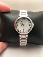 Bulova Women's 96P149 Diamond Accents Mother of Pearl Dial Silver Tone Watch-H28