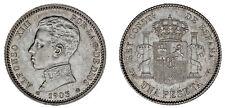 1 SILVER PESETA / 1 PESETA PLATA. ALFONSO XIII. MADRID 1903*. XF/EBC.