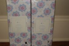 set/2 Nwt Pottery Barn Kids Medallion pink blue crib sheets Chelsea