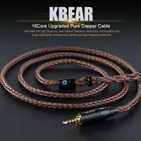 KBEAR 2.5/3.5/4.5mm MMCX/2Pin/QDC Pure Copper 16 Cores Earphone Balanced Cable A