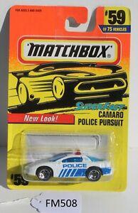 Matchbox Superfast Camaro Police Pursuit White #59 FNQHotwheels FM508
