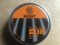 RWS Hobby  Air gun Pellets .177/4.50mm Qty 500 Free P&P
