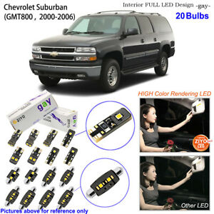 Deluxe White LED Interior Dome Light Kit For GMT800 2000-2006 Chevrolet Suburban