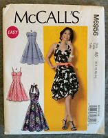 McCall's Misses' Dresses & Belts Fabric material Sewing Pattern #M6956