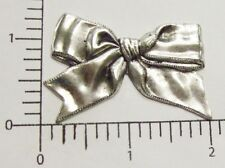29264          2 Pc  Matte Silver Oxidized Victorian Bow Jewelry Finding