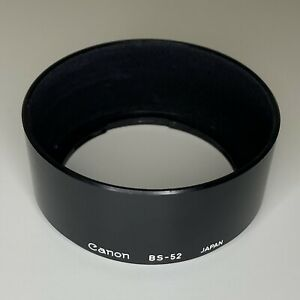 Canon Genuine Original Shade Black Plastic Lens Hood BS-52 For NFD 50mm f/1.4