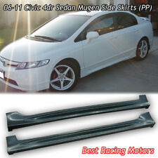 Mu-gen Style Side Skirts (PP) Fits 06-11 Honda Civic 4dr