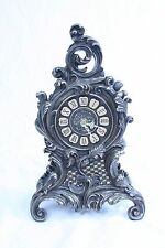 BAROQUE FLORAL MANTEL CERAMIC  CLOCK -  MADE IN CHINA