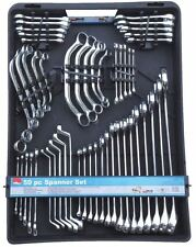 Hilka 50 Piece Metric Spanner Set Kit Combination Ring Stubby Obstruction
