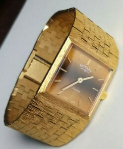 Vintage Rotary watch -1970s bark effect style  - 17 Jewels -  Swiss made