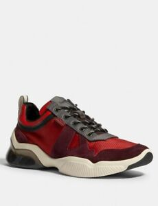 Men's COACH Low Top Runner Sneakers Red Size 12 $303.00