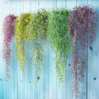 Artificial Fake Silk Flower Vine Hanging Garland Plant Home Garden Wedding @#