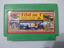 104 in 1 games ( Bomberman , Adventure Island )- Famicom Famiclone Nes Cartridge