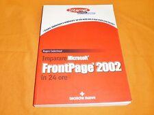 r. cadenhead microsoft frontpage 2002 in 24 ore tecniche nuove 2001