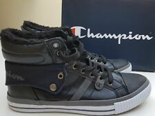 4fed25e7b14 MENS NEW CHAMPION MID TOP FLEECE LINED WINTER TRAINERS SIZE UK 11 BLACK