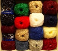 James Brett Twinkle Double Knit Acrylic Wool Yarn 100g DK Glitter Knitting