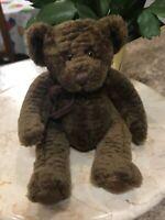 "Vintage Russ Berrie Teddy Bear BIXBY Brown Plush Stuffed Animal 9"""
