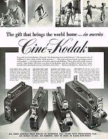 1930s BIG Original Vintage Cine Kodak Movie Camera Photo Print Ad