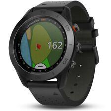 Garmin Approach S60 PREMIUM GPS Watch 2019 - Black Ceramic Bezel w/ Leather