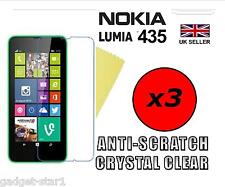 3x HQ CRYSTAL CLEAR SCREEN PROTECTOR HD COVER LCD FILM GUARD FOR NOKIA LUMIA 435