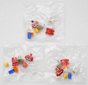 LEGO 3 Pc Santa Claus Minifig Lot 2017 Advent Christmas Calendar 6015 New Sealed