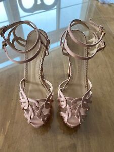 CHARLOTTE OLYMPIA URSULA BLUSH STRAPPY SANDALS PLATFORM PUMPS SIZE 37