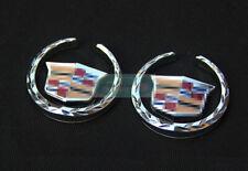 2pcs Sivler VIP Side Metal Emblem Chrome Badge Side Trunk Sticker For ATS CTS
